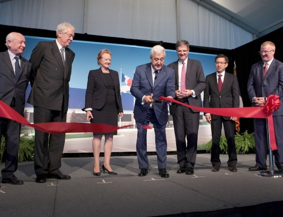 Grand opening of a new Plastic Omnium Inergy plant in Huron, USA