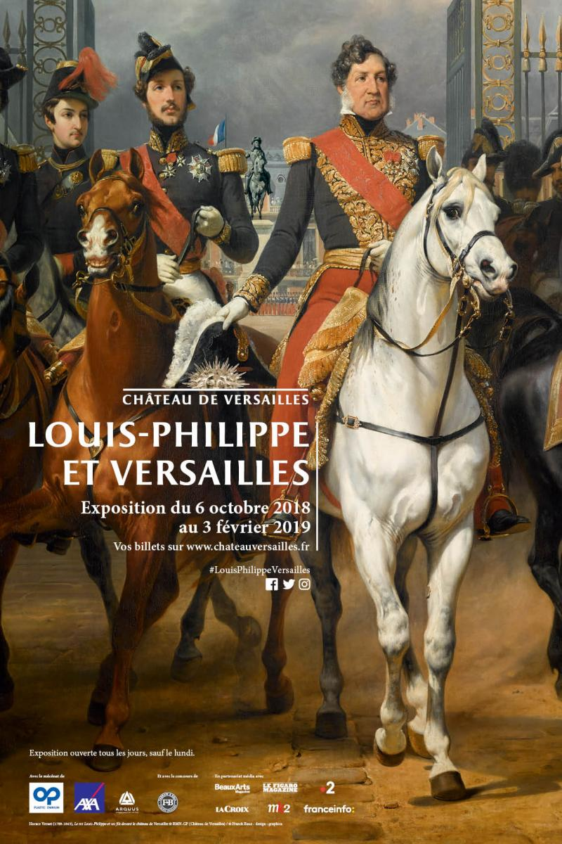 a painting of an illustration of exhibition Louis Philippe And Versailles